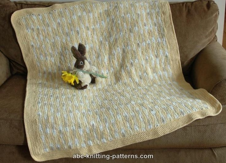 ABC Knitting Patterns - Sunny Waves Baby Blanket