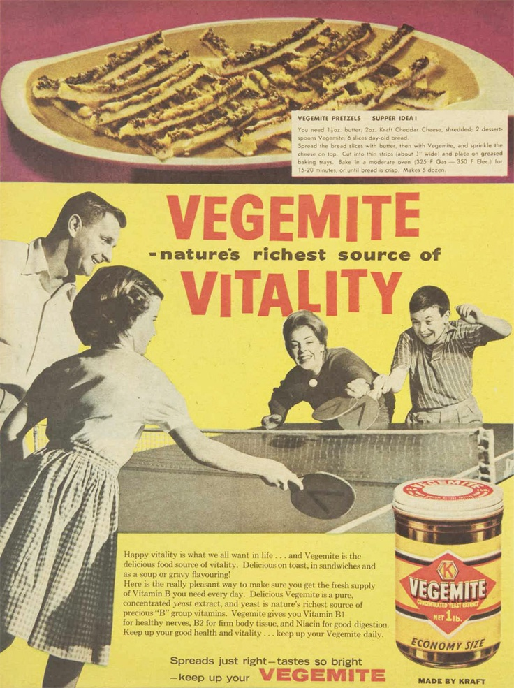Vegemite Pretzels! | via The Australian Women's Weekly, 4 Oct 1961