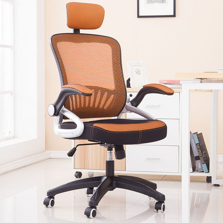 High Quality Breathable Mesh Cloth Office Chair Soft Cushion Armrest Lifting Swivel Computer Chair Household Leisure Staff Chair