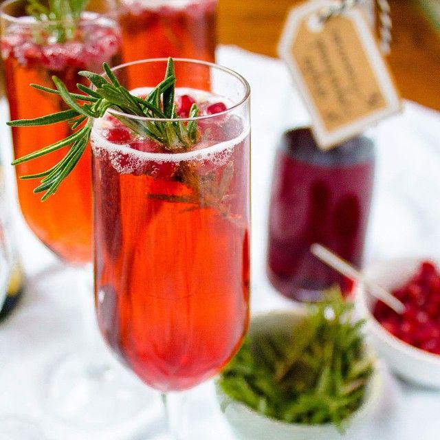Cocktail Champagne, Pomme-grenade et romarin