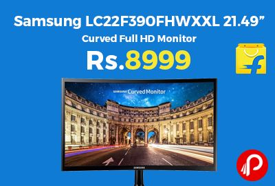 """Flipkart is offering 35% off on Samsung LC22F390FHWXXL 21.49"""" Curved Full HD Monitor at Rs.8999 Only. 1920 x 1080 pixels Resolution, 16:9 Aspect Ratio, LED Backlit.  http://www.paisebachaoindia.com/samsung-lc22f390fhwxxl-21-49-curved-full-hd-monitor-at-rs-8999-only-flipkart/"""