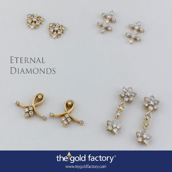 The Eternal Diamonds Collection is up for grabs at NO MAKING CHARGES. But that offer will not be around for an eternity, no. It's only for this month, and this month is half over. C'mon, take your pick from these lovely earrings or choose whatever you want before they vanish from the counters.