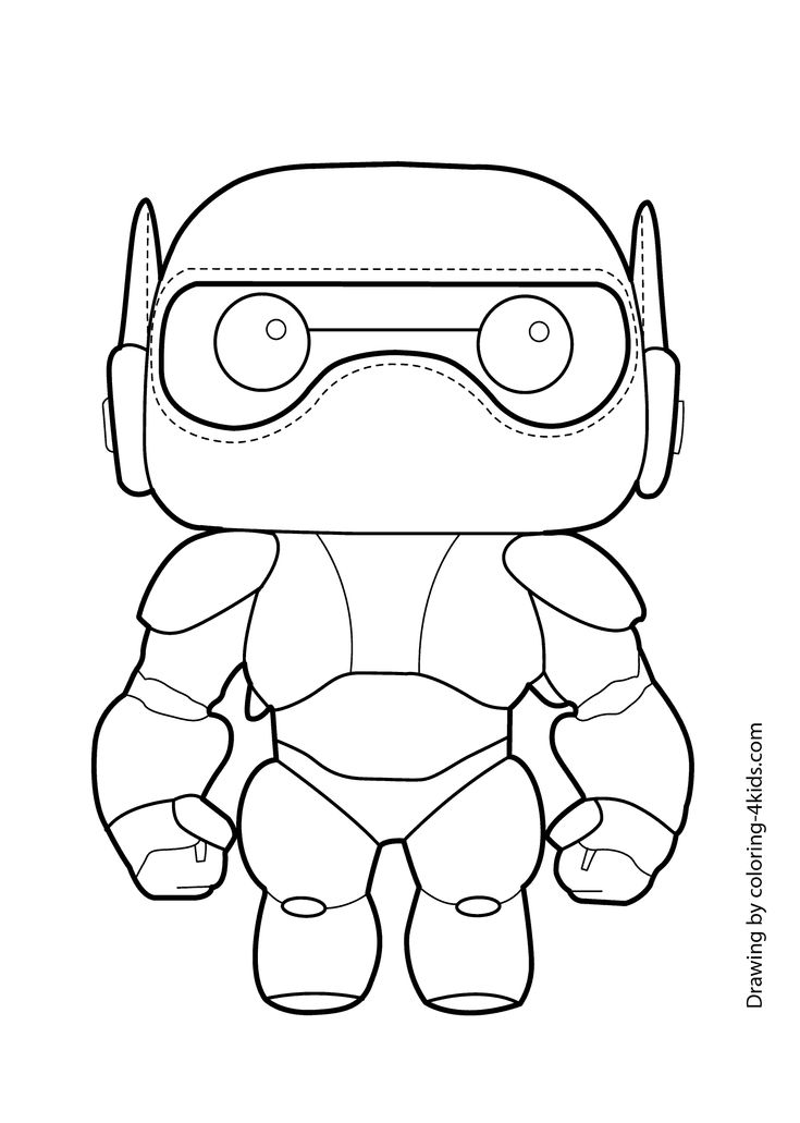 big hero six baymax coloring page for kids  printable free