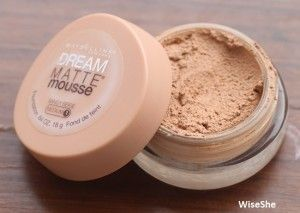 Maybelline dream matte mousse sandy beige medium foundation review