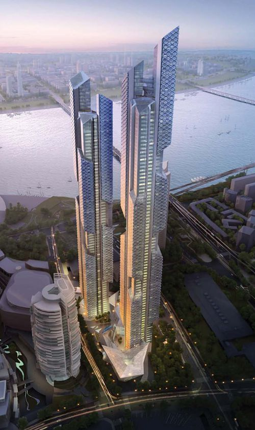 Dancing Dragons Twin Towers by Adrian Smith+Gordon Gill Architecture