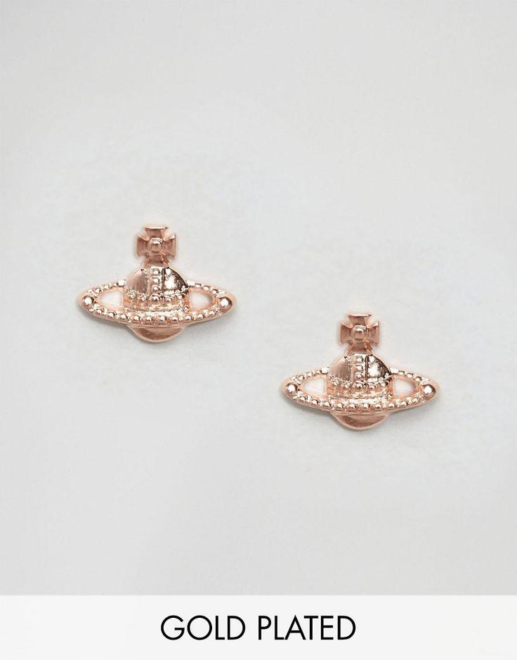 Vivienne Westwood Rose Gold Farah Earrings
