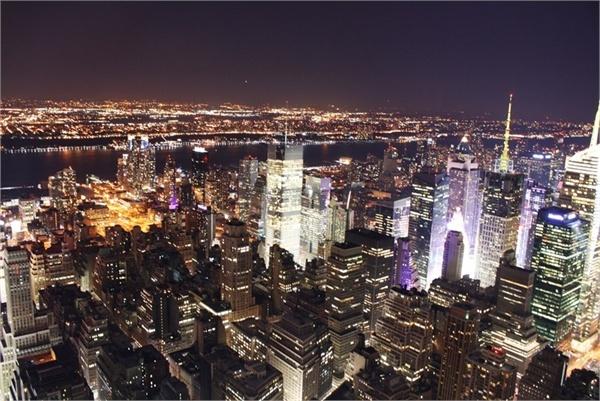 Midnight in Manhattan.