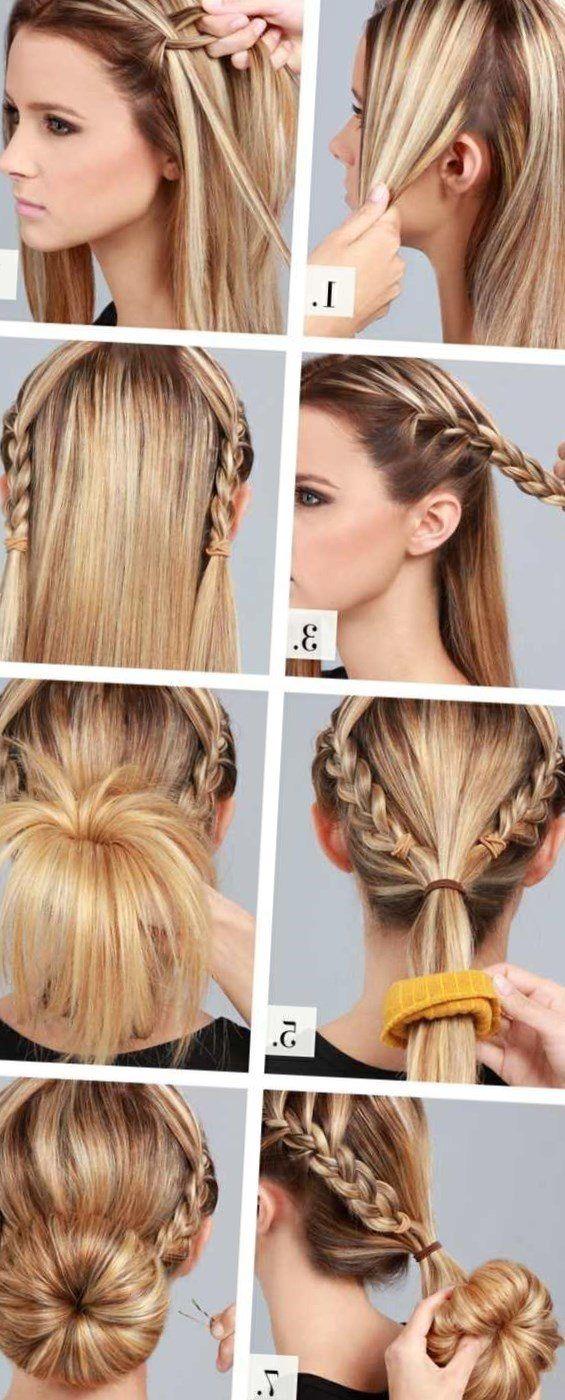 Haare Hochsteckfrisur Selber Machen Ideen Anleitung Frisur Hochgesteckt Frisuren Lange Haare Hochstecken Einfach Hochsteckfrisur