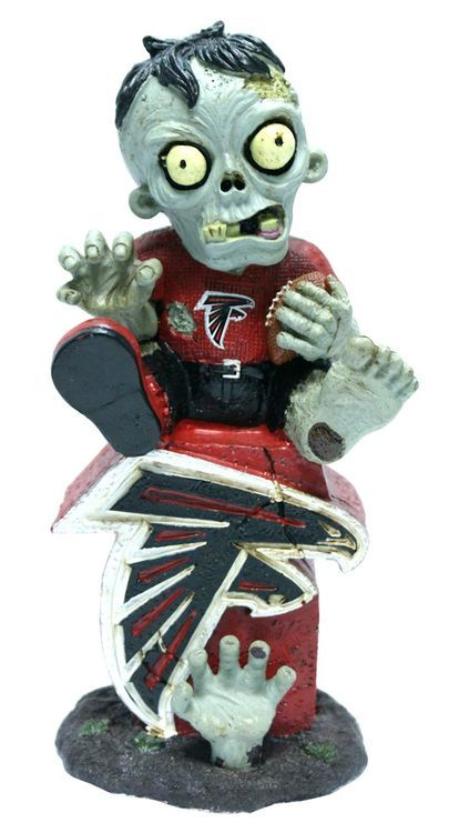 Atlanta Falcons Zombie On Logo Figurine