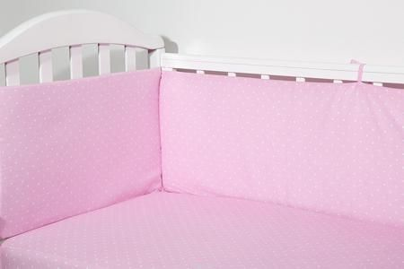 Baby Nice Бортик для кровати Горох цвет розовый  — 1200р. ------ Борт в кроватку (его ещё называют бампер) является отличной защитой малыша от сквозняков и ударов при поворотах в кроватке. Ткань верха: 100% хлопок, наполнитель: экологически чистый нетканый материал для мягкой мебели — периотек. Дизайны бортов сочетаются с дизайнами постельного белья, так что, можно самостоятельно сделать полный комплект, идеальный для сна. Борта в кроватку — мягкие удобные долговечные: надежная и эстетичная…