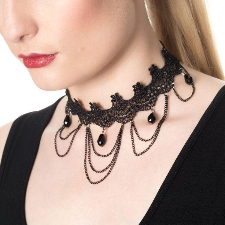 Collar Gótico Jade Banned #goth #gothic #choker #complementos #goticos #gargantilla #gotica #xtremonline
