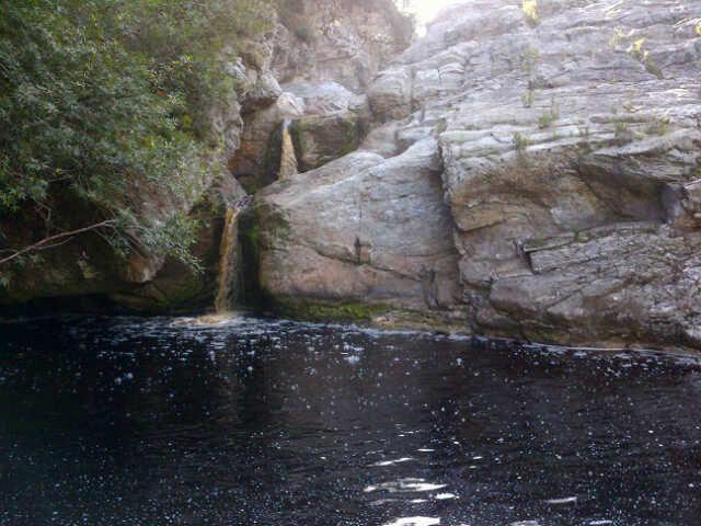 Black water at Pepsie pools- Saasveld Campus