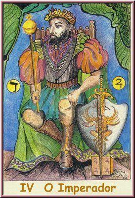 4. O Imperador, no Tarot Namur, desenhado por Martha Leyrós