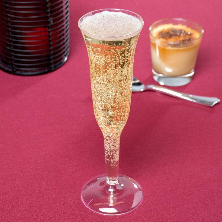 clear 1piece plastic champagne flute 96case