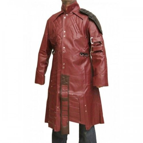 Leather Rider Handmade Men Galaxy Star Lord Leather Coat Fashion Leather Coat