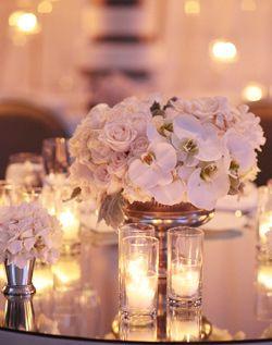 WeddingChannel Galleries: White Reception Flowers