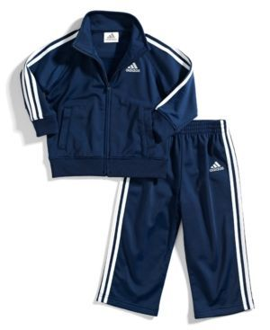 adidas Toddler Boys' 2-Piece Icon Jacket & Pants - Blue 2T