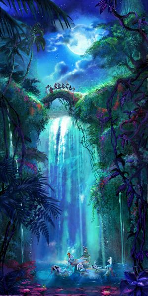Following The Leader Peter Pan The Lost Boys Mermaid Lagoon Giclée ...