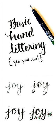 Basic Hand Lettering: JOY - One Artsy Mama                              …