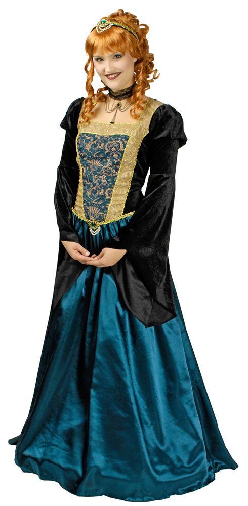 Mit diesem zauberhaften Burgfräulein, Königin, Lady oder Prinzessinnen Kostüm für Damen finden Sie schnell Ihren Traumprinzen, Hofnarr oder Prinzen zu Karneval, Mottoparty oder Ritterfestspielen!