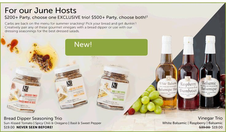Epicure Selections Consultant Website > Monthly Special for hostesses in JUNE