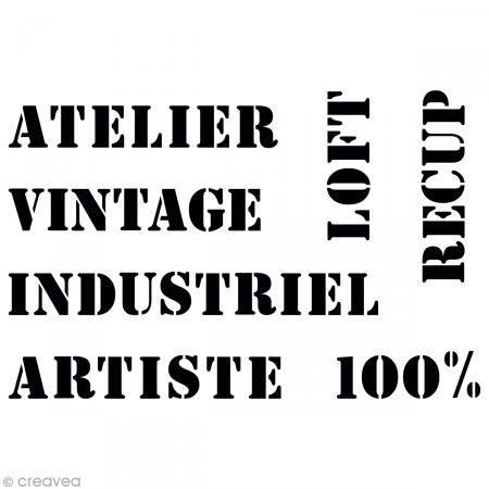 Pochoir Texte Vintage pour Home Deco  - A3 (29,7 x 42 cm) http://www.creavea.com/pochoir-texte-vintage-pour-home-deco-a3297-x-42-cm_boutique-acheter-loisirs-creatifs_56246.html