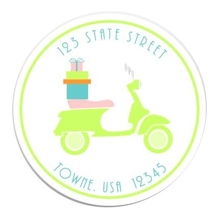 Vespa Party Stickers