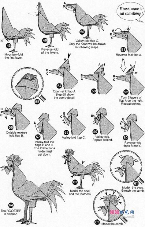 origami chicken 4