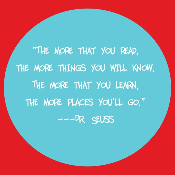 Dr Seuss Read Quote Print by ajsterrett on Etsy, $16.00