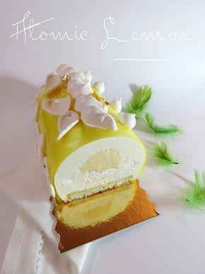 J'en reprendrai bien un bout...: Atomic Lemon - Bûche Noël 2015 - bûche au citron