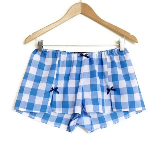 Hey, I found this really awesome Etsy listing at https://www.etsy.com/listing/235547659/gingham-boxer-shorts-ladies-pyjama