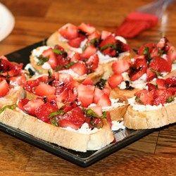 Strawberry Goat Cheese Bruschetta - Allrecipes.com