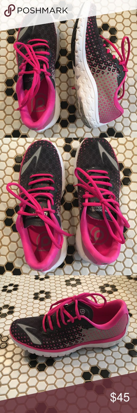 Women's Brooks Pure Flow 5 Light, bright, clean Brooks running shoes. Worn just a few times on a treadmill. These are great, just too narrow for my feet. Brooks Shoes Sneakers