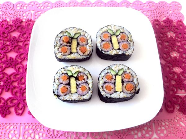 Butterfly sushi roll