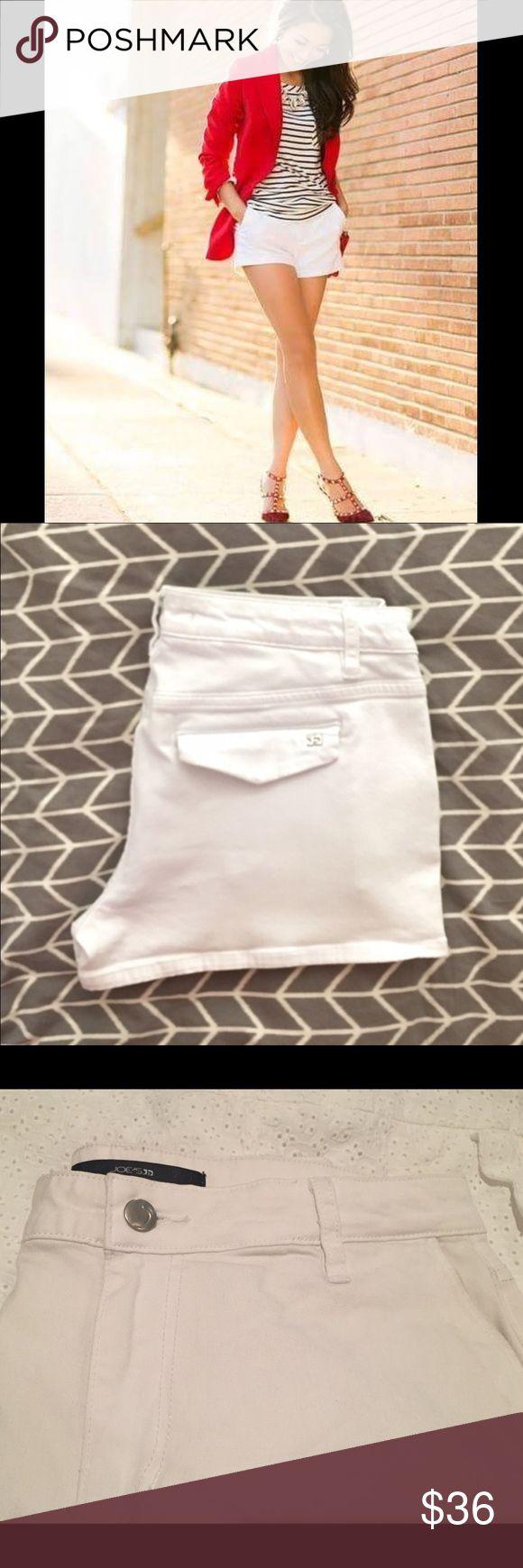 JOE'S JEAN SHORTS A summer must have! Joe's  trouser white jean shorts. In great condition. Joe's Jeans Shorts Jean Shorts