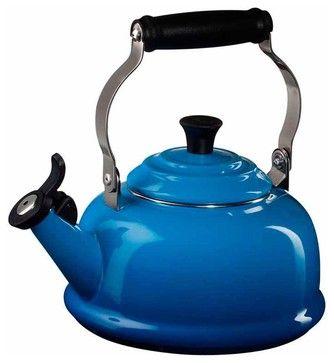 Le Creuset Enamel on Steel 1.8-Quart Whistling Tea Kettle traditional kettles