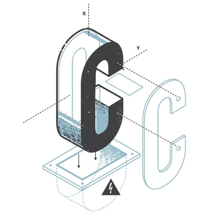 The Exploded Alphabet — the Design Office of Matt Stevens - Direction + Design + Illustration
