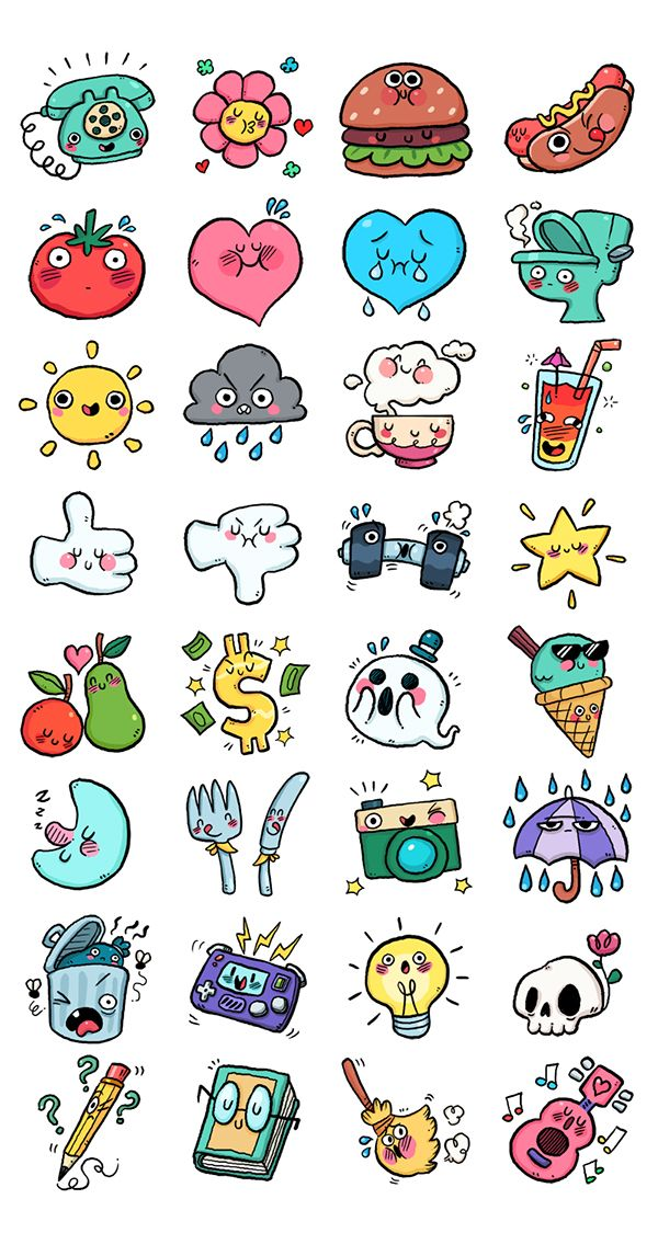 A set of cute and stoopid chat stickers for the Link app.