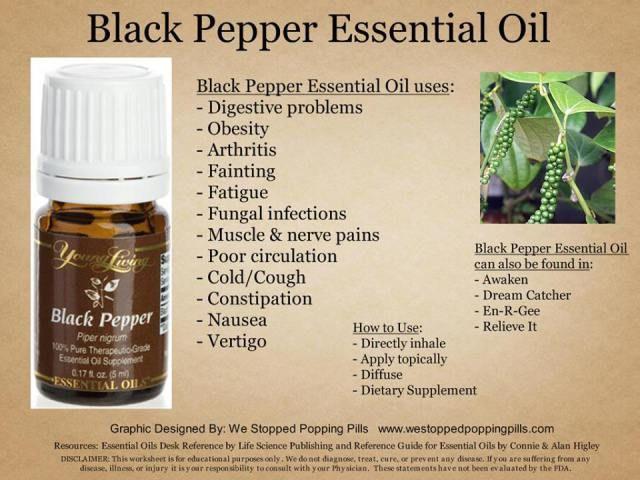 Pepper black essential oil