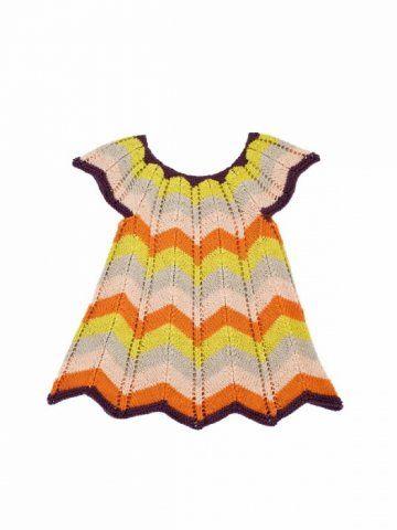 1392 Zigzag klänning Barn 2-10 år