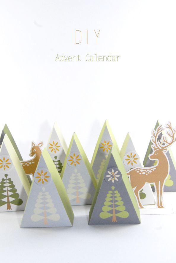 free printable advent calendar box 13 DIY