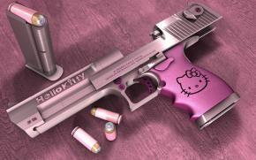 Розовый пистолет Hello Kitty