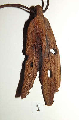 Aussie hand made gum leaf unique.