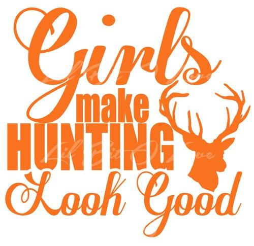 Girls Make Hunting Look Good vinyl decal sticker with buck deer auto  | LilBitOLove - Housewares on ArtFire