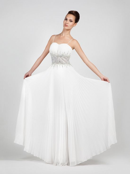 Strapless dress pleated,with beading on the waist!!  http://mikael.gr/en/previous-collections/AG11679.html