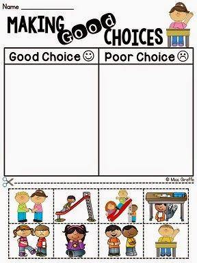 Making good choices classroom management activity and other fun ideas for back to school behavior talks