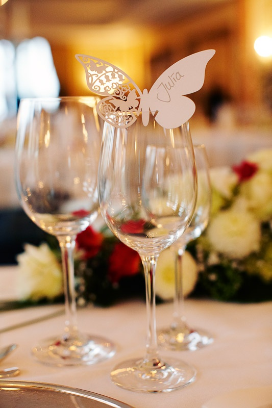 Namensschild Namenskärtchen Platzkärtchen Hochzeit - butterfly