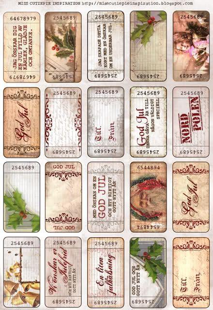 Free Vintage Christmas Printable Gift Tags