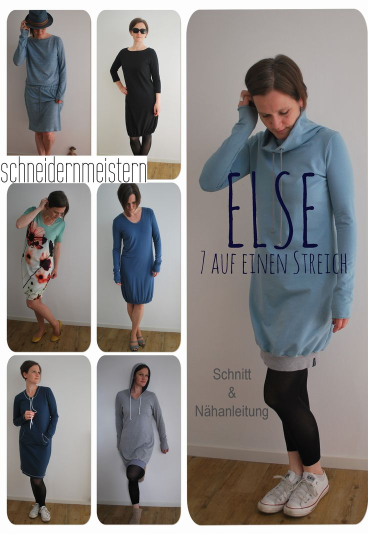 Else - 7 in one blow. 7 dress variations in just one pattern. Else is chic or cool, comfy or even a little black dress. Else is perfect for every shape, occasion and personal style. Which one will you sew?