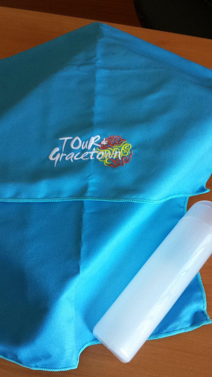 Embroidered sports towel for Tour de Gracetown